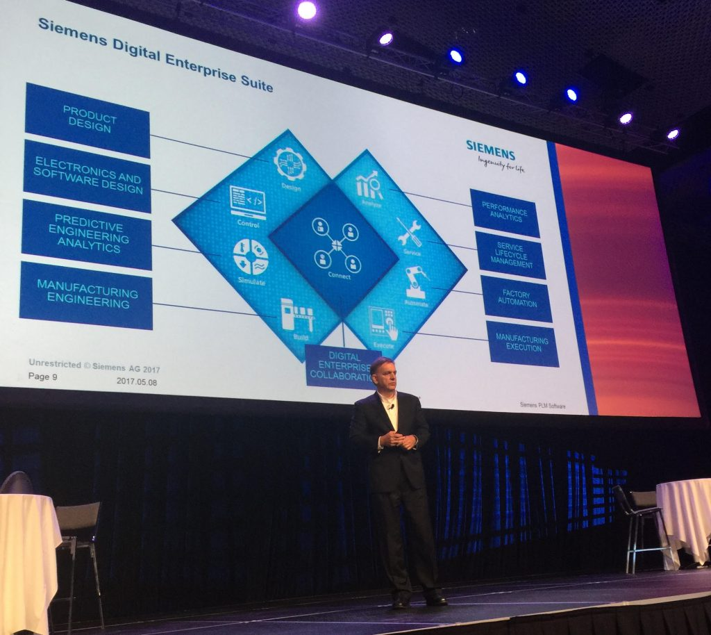 Tony Hemmelgarn, president and CEO of Siemens PLM Software, explains the companys Digital Enterprise Suite.