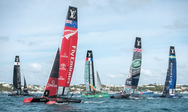 The five challengers to Team Oracle USA. Photo by Ricardo Pinto via ACEA.
