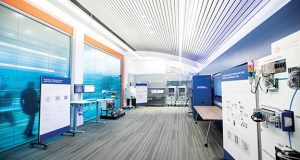 The Industrial IoT Lab is located at NI's global headquarters in Austin, TX. It is a working showcase of industrial Internet of Things technologies, solutions and systems architectures. Image courtesy of National Instruments.