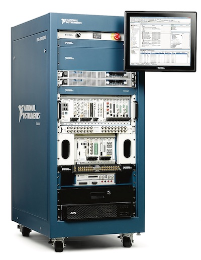 NI says that standardization of key test system infrastructure and safety components can lower costs and shorten time to market. Shown here is a 24U ATE Core Configuration. Image courtesy of National Instruments.