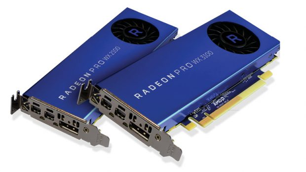 The Radeon Pro WX 2100 and WX 3100 entry-level workstation graphics cards are said to have performance improvements of up to 2X over the company's previous generation AMD FirePro products, AMD reports.
