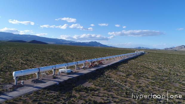 Hyperloop One tube test track