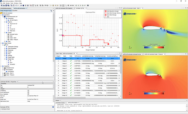 Version 12.04 of STAR-CCM+ software for multiphysics computational fluid dynamics (CFD) simulation and analysis debuts Design Manager. This integrated feature for automated product design exploration and optimization enables you to investigate differences and compare variants of one exploration project or even different projects in the same interface simultaneously. Image courtesy of Siemens PLM Software.