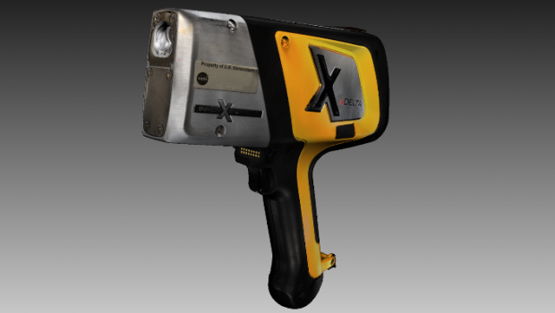 A 3D model of the Delta XRF analyzer made with Artec Space Spider 3D scanner. The model is used in NASA's hybrid reality simulation exercises to train future astronauts how to handle tools and machines on Mars. In hybrid reality, the trainee can feel the device's weight under different gravity conditions and get tactile feedback from the device when pressing buttons on it.