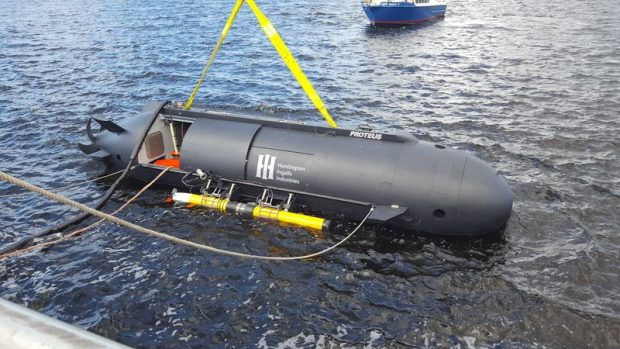 Proteus, a dual-mode undersea vehicle developed by HII's Technical Solutions division (Undersea Solutions Group) and Battelle, successfully completed autonomous contested battlespace missions during the 2017 Advanced Naval Technology Exercise (ANTX) at the Naval Surface Warfare Center (Panama City Division). HII photo