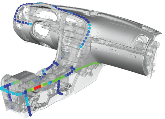 National Electric Vehicle Sweden uses Altair's Squeak and Rattle Director to identify and solve root causes of sounds in automotive assemblies. Image courtesy of Altair.