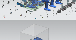 3D nesting in Siemens NX allows users to maximize the number of prints that can be executed within the build volume of the HP Multi Jet Fusion printer.Image courtesy of Siemens PLM Software.