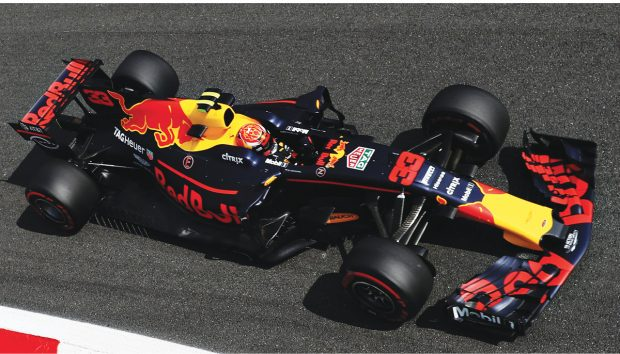 Red Bull Racing (shown here) and other Formula One teams must balance the use of CFD and wind tunnels to remain within the allotted balance. Photo by Mark Thompson/Getty Images; image courtesy of Red Bull Racing.
