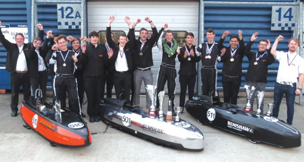 Renishaw apprentices raced to success at Greenpower event in 2016. Image courtesy of Renishaw.