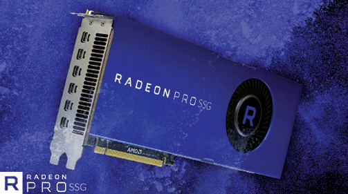 AMD recently introduced the Radeon Pro SSG, a professional-class GPU based on its VEGA architecture. Image courtesy of AMD.