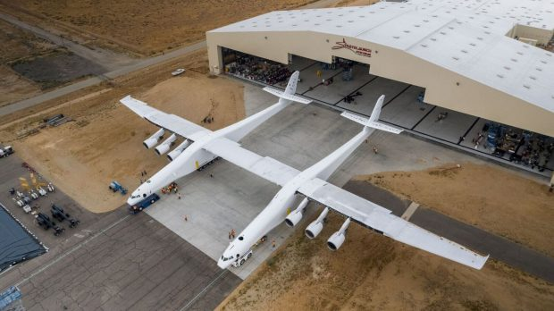 in the case of the Stratolaunch air-launch platform pictured above it was essential to take as much weight out as possible—while still achieving flight certification. Image courtesy of Collier Research.