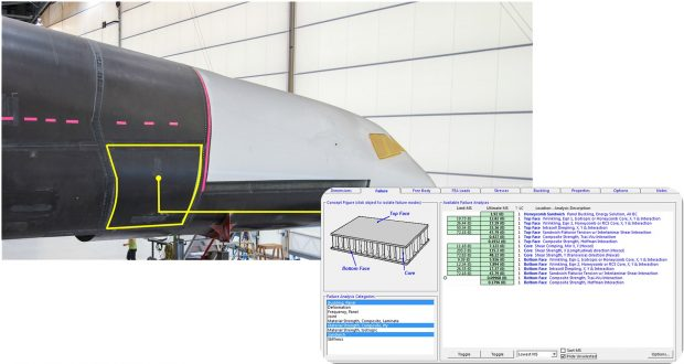 manufacturers turned to Collier Research's HyperSizer software for automated design, stress analysis and sizing optimization. Image courtesy of Collier Research.