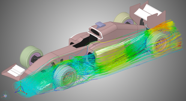 NVIDIA and ANSYS have collaborated to create a compute-accelerated environment for high-end ANSYS fluid, structural and electronics applications. ANSYS' new Discovery Live application, shown here, leverages NVIDIA technologies to provide an interactive design exploration tool for designers. Image courtesy of ANSYS Inc.