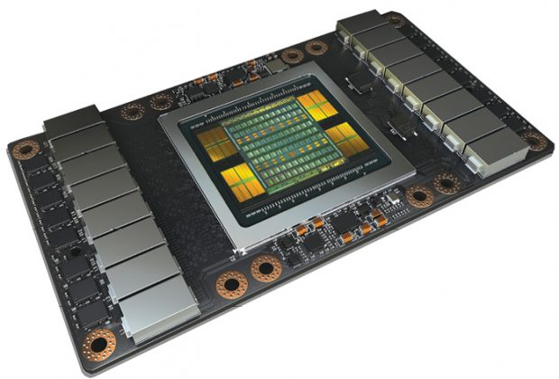 Based on the new NVIDIA Volta GV100 GPU, the Tesla V100 accelerator takes aim at artificial intelligence (AI) applications, promising greater speed and scalability for AI training and inferencing. To deliver this kind of power, the accelerator leverages an impressive capacity for parallel processing. Image courtesy of NVIDIA.