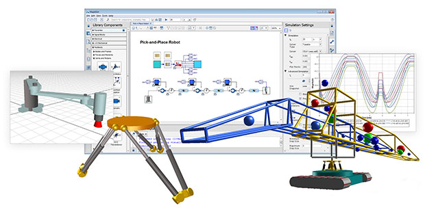 Maplesoft has released the 2017 edition of MapleSim, its advanced system-level modeling tool. Deployed across a wide variety of applications and industries, MapleSim is known for its functionality for creating physics-based digital twins for virtual commissioning. Image courtesy of Maplesoft.