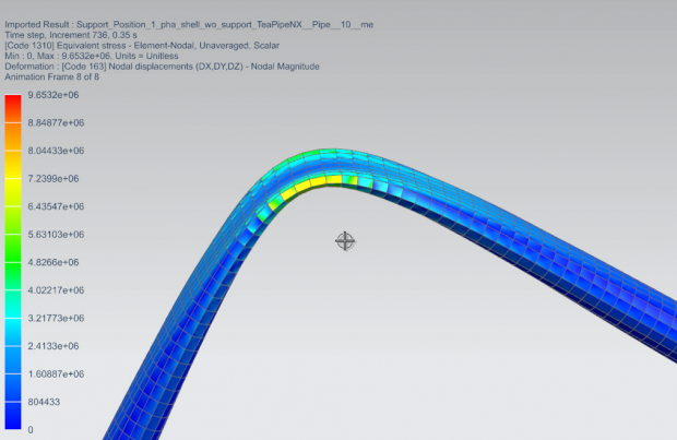 Using Simcenter 3D engineers can design and simulate the behavior of flexible pipes and hoses. Images courtesy of Siemens.