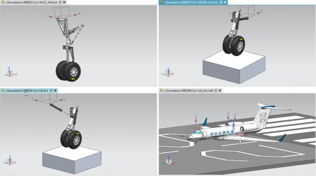 Simcenter 3D allows efficient assembly of large motion models through management and re-use modular mechanisms. Images courtesy of Siemens.