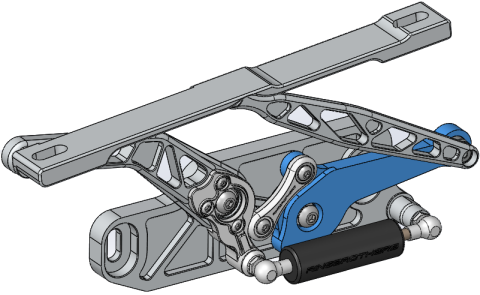 Topology optimization, available in SOLIDWORKS Simulation Professional and SOLIDWORKS Simulation Premium, enables users to study design iterations for a given optimization goal and geometric constraints. Image courtesy of Dassault Systèmes SOLIDWORKS Corp.