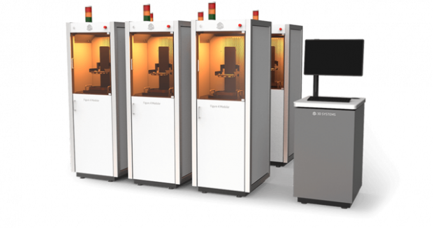 The Figure 4 is a modular, scalable and upgradable 3D production solution. 3D Systems will offer the Figure 4 in standalone configurations, as well as in highly customized, in-line production configurations of multiple units. Image courtesy of 3D Systems Inc.