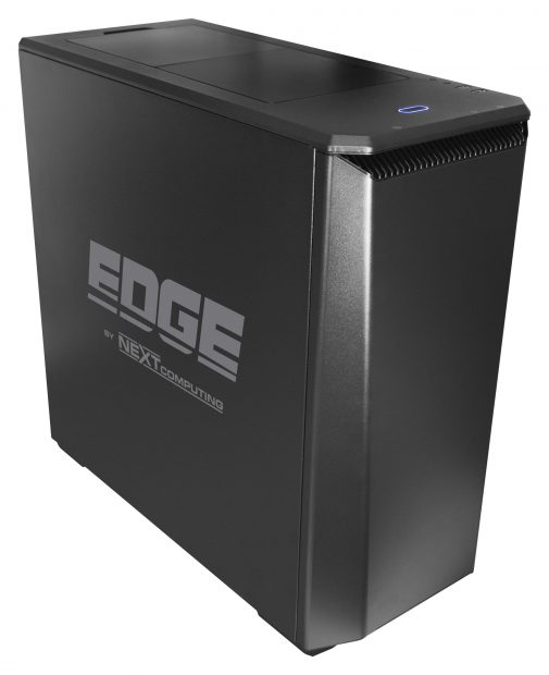 The Edge TR mid-size tower workstation is built around the 16-core AMD Ryzen Threadripper 1950x CPU, comes with 128GB of memory and supports as many as four dual-width graphics accelerators. Image courtesy of NextComputing.