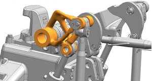 Simcenter 3D v12 provides generative design workflows supporting integrated topology optimization and convergent modeling for efficient design and simulation. Image courtesy of Siemens PLM Software.