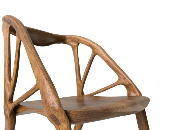Rendered views of the Elbo Chair, designed in Dreamcatcher using algorithms. Image courtesy of Autodesk.