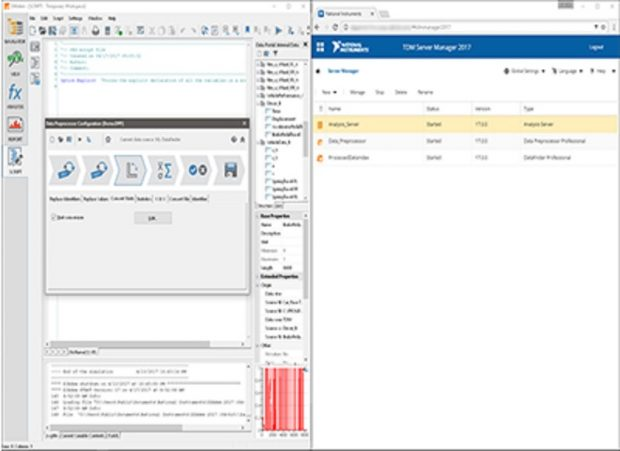 NI's Data Management Software Suite, an enterprise solution, melds tools from the company's Technical Data Management solution portfolio with a new application that automates the search, standardization, analysis and reporting of measurement data. Image courtesy of National Instruments.