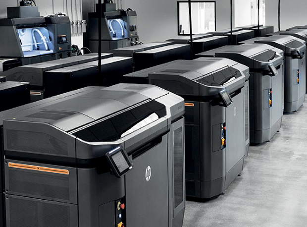 HP Jet Fusion 3D 4210 Printing Solution offers improved overall efficiency compared with previous models along with a new processing station that handles higher material volumes. The effect, according to HP, is the ability to mass-produce from 700 to 1,000 engineering-grade parts per week at the industry's lowest cost-per-part. Image courtesy of HP Inc.
