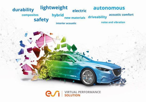 The latest version of ESI Virtual Performance Solution was designed to meet the biggest challenges of the automotive industry. Image courtesy of ESI Group.