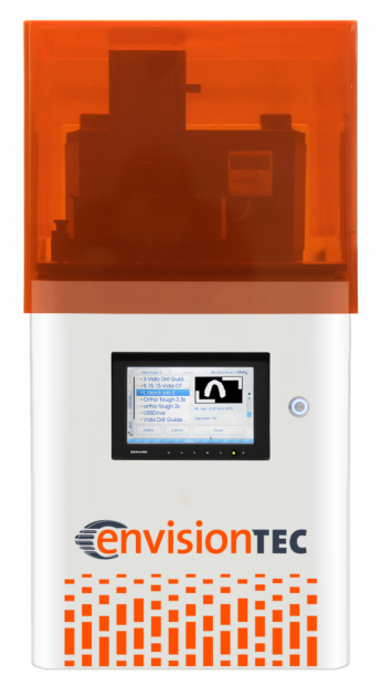 EnvisionTEC's new Vida 3D printer offers high-speed cDLM (continuous digital light manufacturing) 3D printing technology, a 5.7x3.2x3.9-in. build area and an XY resolution of 76 microns. Image courtesy of EnvisionTEC Inc.