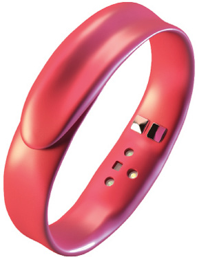 The Feel wristband's built-in sensors can detect human emotions and mood. Image courtesy of Feel.