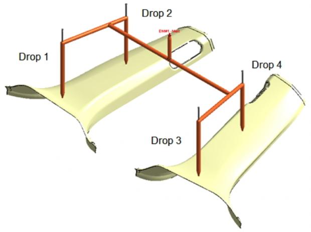 Fig. 2: Hot runner layout design.