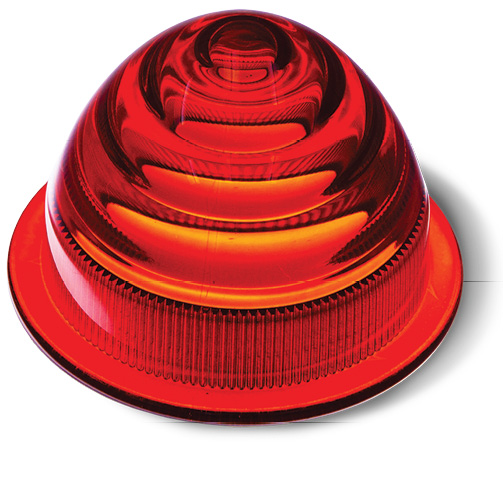 This stereolithography printed part has been dyed red and clear coated. Image courtesy of Proto Labs.