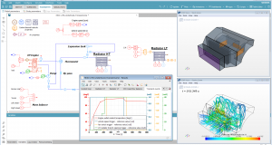 Version 16 of the Simcenter Amesim mechatronic system simulation platform provides more support for applications that focus on engineering challenges in industries such as automotive and transportation, aerospace and defense and industrial machinery and heavy equipment. Image courtesy of Siemens Product Lifecycle Management Software Inc.