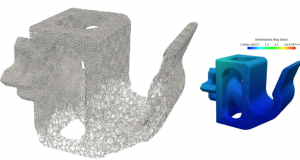 Carbon has released a new version of its 3D print software. Among its features is the ability to correct a deformation problem by automatically generating an appropriate lattice based on the desired performance. Image courtesy of Carbon Inc.