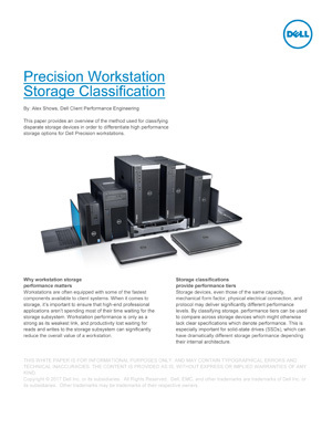 The Precision Workstation Storage Classification paper provides an in-depth description of the different types of SSDs and how Dell classifies them via benchmarking. It can be downloaded here.