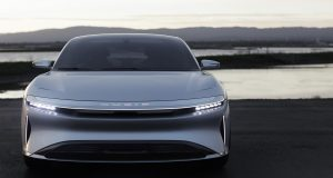 Virtual reality prototyping company, OPTIS, and luxury mobility company, Lucid Motors, offer demos of automobile lighting technology at CES 2018. Image courtesy of OPTIS.