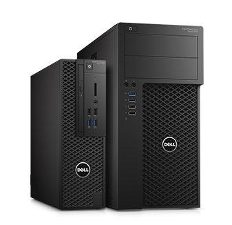 The Dell Precision Tower 3420 and 3620 are configurable for CAD and ISV certified. Image courtesy of Dell.