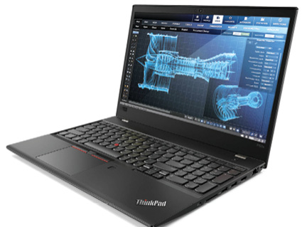 The Lenovo ThinkPad P52 is the first Lenovo thin-and-light mobile workstation to run a quad-core Intel CPU. Image courtesy of Lenovo.