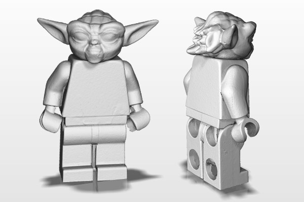 This miniature Yoda figurine was scanned in by an HDI Compact C506 scanner. Image courtesy of Polyga Inc.