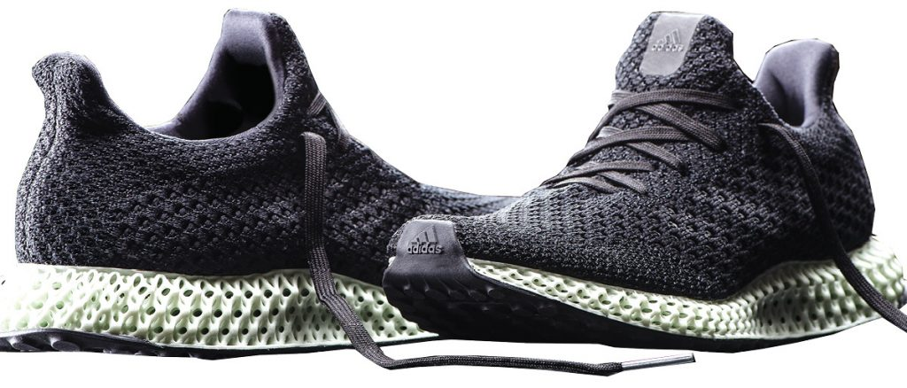 adidas is leveraging Carbon's Digital Light Synthesis 3D printing technology to mass produce custom, high-performance sneakers. Image courtesy of Carbon.