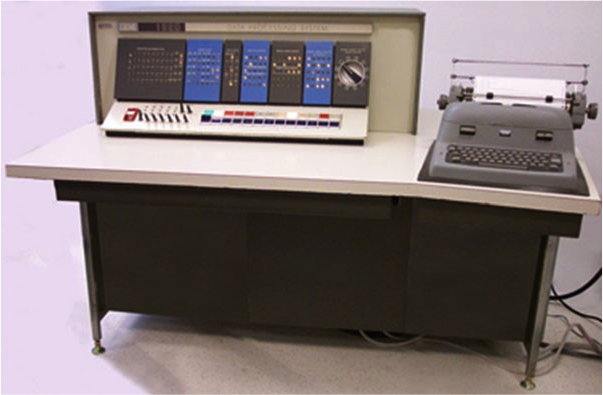 "Fig. 11: IBM 1620 ""CADET"" personal scientific computer, circa 1959 (Courtesy of Crazytales (CC BY-SA 3.0))"