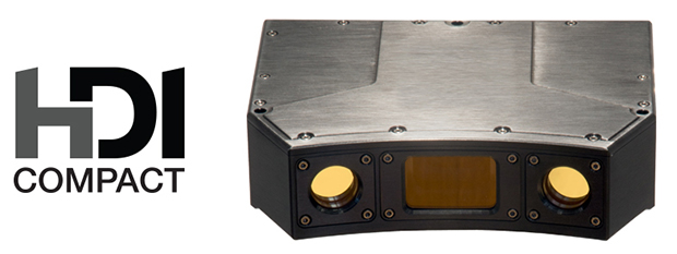 Polyga's dual-camera HDI Compact 3D scanner series for industrial applications uses blue LED structured-light technology for rapid scanning. Series members include units with 1.3-, 2.8- or 5.2-megapixel monochrome cameras for different scanning volumes. Image courtesy of Polyga Inc.