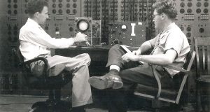 Dr. MacNeal (on the right) and Robert Schwendler (on the left) in the early 1960's working on the space program.