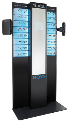 HOYA has launched Yuniku, a 3D scanning system that aids in the production of custom eyewear. Image courtesy of HOYA Vision Care.