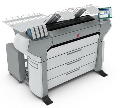 The new Océ ColorWave 700 large-format black & white and color printing system can print up to 212 D-size full-color prints per hour. The print engine at its heart leverages Océ CrystalPoint Technology to provide high-resolution results on media as diverse as economical uncoated recycled paper and high-end specialty materials. Image courtesy of Canon Solutions America Inc.