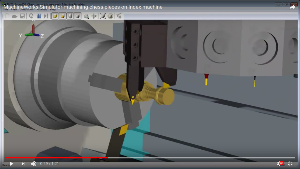 MachineWorks CNC (computer numerical control) simulation and verification software version 8.0 has been released. Among its capabilities is support for complex simulations, verification and clash detection on CNC machines as well as additive manufacturing systems. Screen capture courtesy of MachineWorks Ltd.