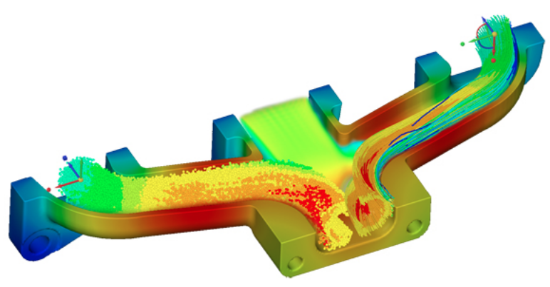GPU-powered parallel processing allows instant display of complex fluid flow and thermal results. Image courtesy of ANSYS.