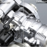 Preview of a feature in SOLIDWORKS 2019, showing SOLIDWORKS Visualize rendering an assembly with AI-powered noise removal from NVIDIA. Image courtesy of SOLIDWORKS.