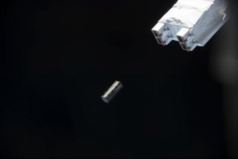 Fig. 10: TuPOD deployed. Image courtesy of JAXA / NASA.